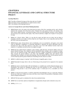 CHAPTER16 FINANCIAL LEVERAGE AND CAPITAL STRUCTURE POLICY