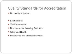 Quality Standards for Accreditation