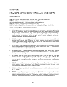 CHAPTER 2 FINANCIAL STATEMENTS, TAXES, AND CASH FLOWS Learning Objectives