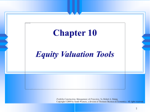 Chapter 10 Equity Valuation Tools