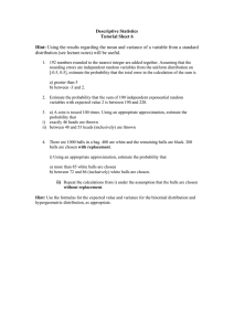 Descriptive Statistics Tutorial Sheet 6  Hint: