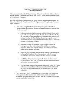 CONTRACT FOR CONSOLIDATED LAW ENFORCEMENT  This agreement made on the 1