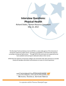 Interview Questions: Physical Health Richard Stokes, Human Resource Consultant May 22, 2012
