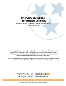 Interview Questions: Professional Specialty Richard Stokes, Human Resource Consultant May 22, 2012