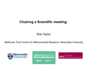 Chairing a Scientific meeting: Rob Taylor
