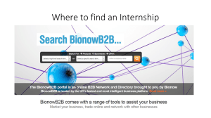 Where to find an Internship