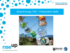 – Presentation Skills Biotechnology YES