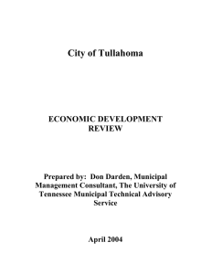 City of Tullahoma ECONOMIC DEVELOPMENT REVIEW