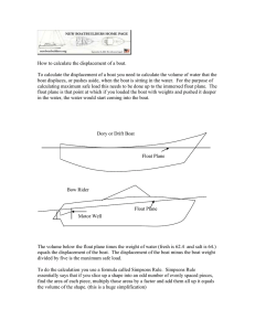 How to calculate the displacement of a boat.