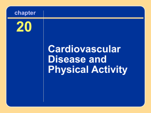 20 Cardiovascular Disease and Physical Activity