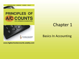 Chapter 1 Basics In Accounting