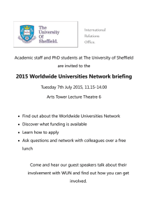 2015 Worldwide Universities Network briefing  International Relations