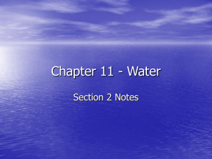 Chapter 11 - Water Section 2 Notes