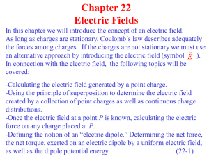 Chapter 22 Electric Fields