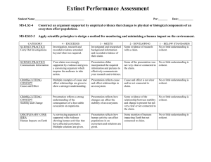 Extinct Performance Assessment