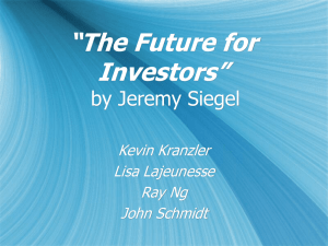 """The Future for Investors"" by Jeremy Siegel Kevin Kranzler"