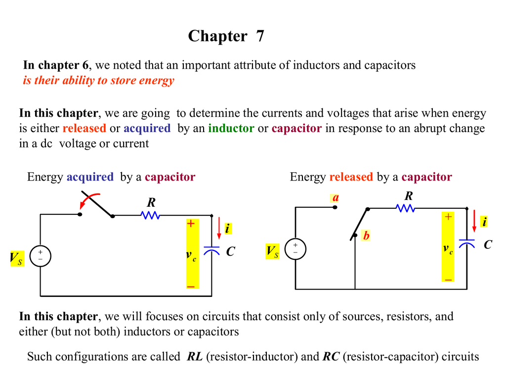 Chapter 7 R I C If We Increase The Inductance In An Rl Circuit What Happens To