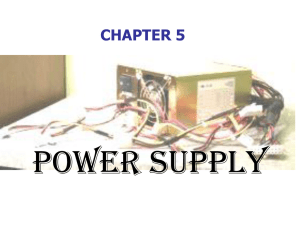 Power Supply CHAPTER 5
