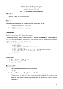 ICS 103 – Computer Programming in C Summer Semester 2008 (073)