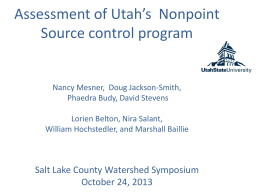 Assessment of Utah's  Nonpoint Source control program