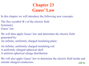 Chapter 23 Gauss' Law