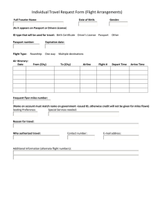 Individual Travel Request Form (Flight Arrangements)
