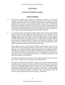 CHAPTER 8  Economic and Industry Analysis
