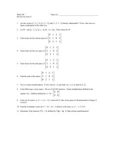 Math 240 Name (s):  Review for Test #2
