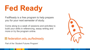 Fed Ready FedReady is a free program to help prepare