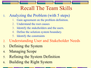 Recall The Team Skills Analyzing the Problem (with 5 steps)