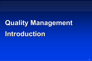 Quality Management Introduction 1