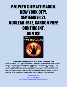 PEOPLE'S CLIMATE MARCH. NEW YORK CITY. SEPTEMBER 21. NUCLEAR-FREE, CARBON-FREE