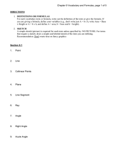 Chapter 9 Vocabulary and Formulas, page 1 of 5 DIRECTIONS