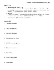 Chapter 10 Vocabulary and Formulas, page 1 of 2 DIRECTIONS