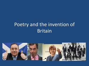 Poetry and the invention of Britain