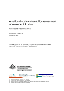 A national-scale vulnerability assessment of seawater intrusion: Vulnerability Factor Analysis