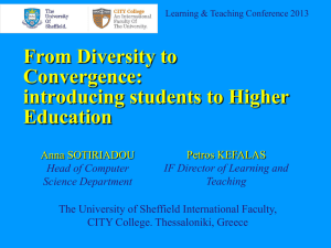 From Diversity to Convergence: introducing students to Higher Education