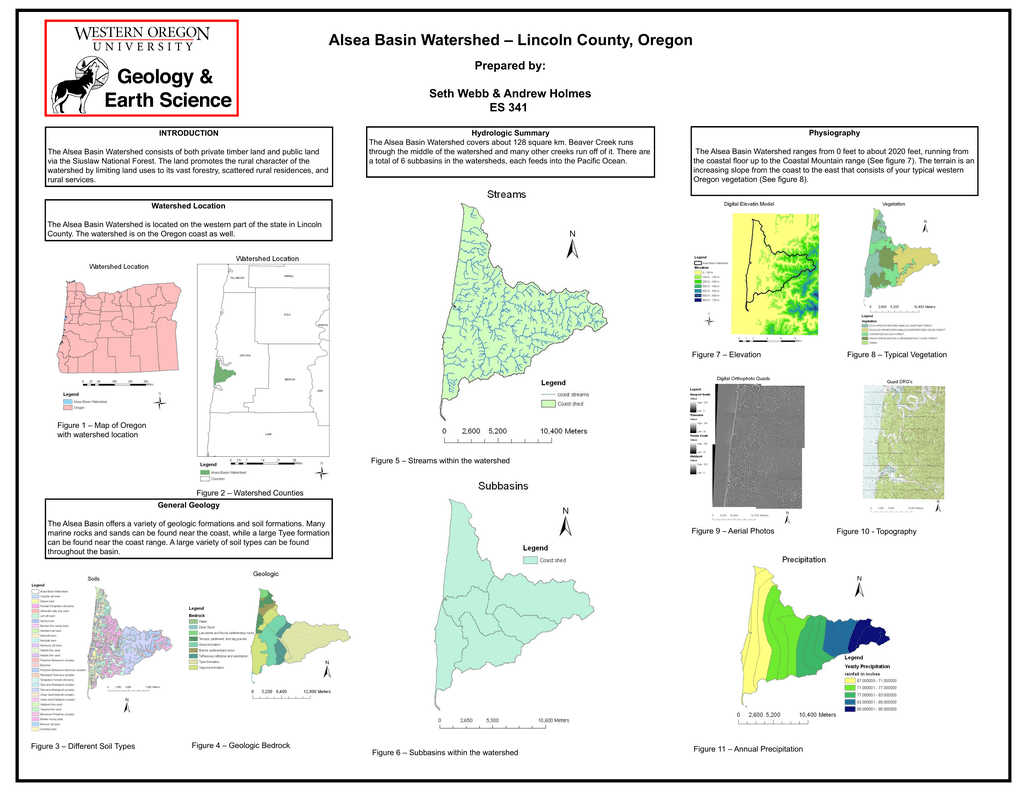 Lincoln County Oregon Alsea Basin Watershed Prepared By