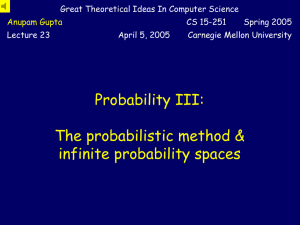 Great Theoretical Ideas In Computer Science Lecture 23 April 5, 2005