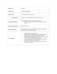 Grade Level Content Area Title of Lesson Learning Goal