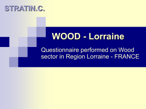 WOOD - Lorraine STRATIN.C. Questionnaire performed on Wood