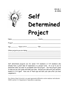 Self Determined Project