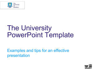 The University PowerPoint Template Examples and tips for an effective presentation