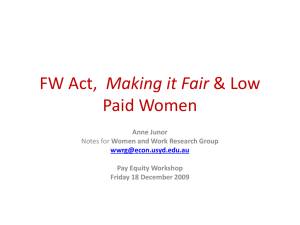 Making it Fair Paid Women Anne Junor Pay Equity Workshop