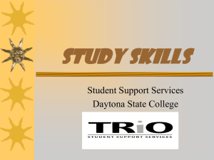 Study Skills Student Support Services Daytona State College
