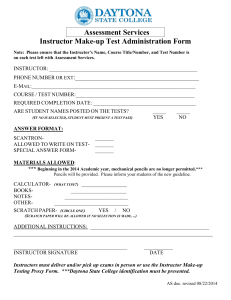 Assessment Services Instructor Make-up Test Administration Form