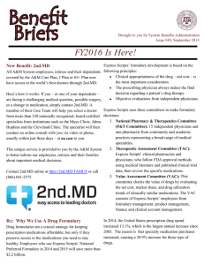 Benefit Briefs  FY2016 Is Here!