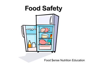 Food Safety Food $ense Nutrition Education
