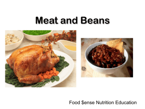 Meat and Beans Food $ense Nutrition Education