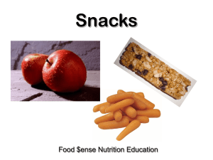 Snacks Food $ense Nutrition Education
